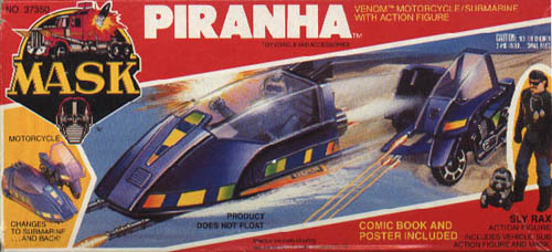 Kenner MASK PIRANHA BOX FRONT