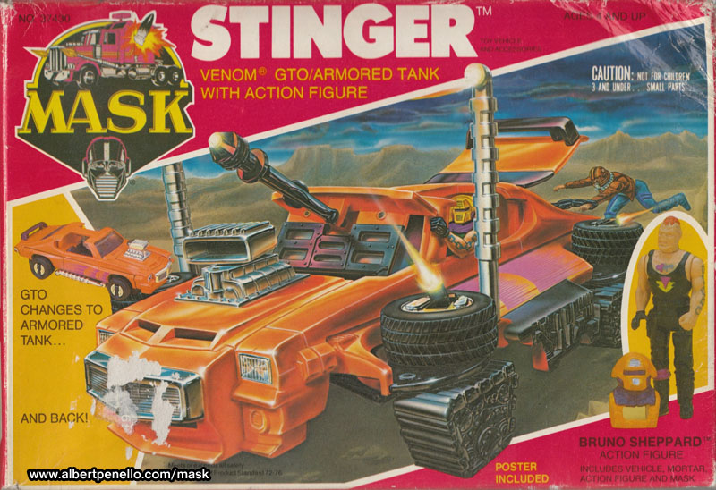 Kenner MASK STINGER BOX FRONT