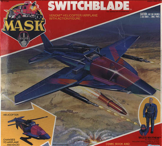 Kenner MASK SWITCHBLADE BOX FRONT