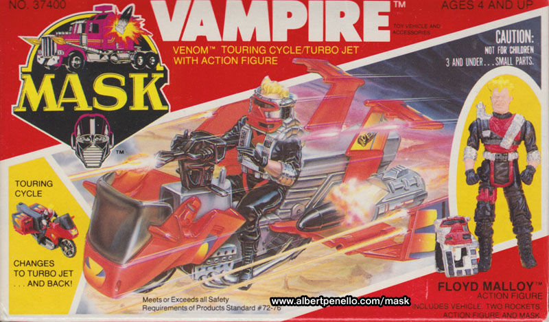 M A S K Cartoon Characters : M a s k vehicle profile vampire